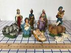 Italy Nativity Creche 12 pc Christmas Antique Figurines set Chalkware Antique ue