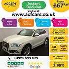 2015 WHITE AUDI Q5 20 TDI 190 QUATTRO S LINE + DIESEL AUTO CAR FINANCE FR 67PW