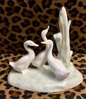 Lladro Nao Figurine Group of Ducks Swans Geese Porcelain