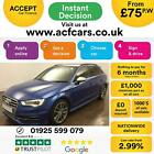 2015 BLUE AUDI S3 SPORTBACK 20 TFSI 300 QUATTRO 5DR MAN CAR FINANCE FR 75 PW