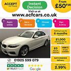 2015 WHITE BMW 218i 15 T M SPORT PETROL MANUAL 2DR COUPE CAR FINANCE FR 50 PW