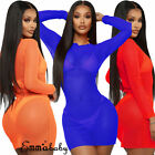 Sexy Women Mesh Sheer See-Throught MIni Dress Bikini Cover Up Swim Bathing Suit