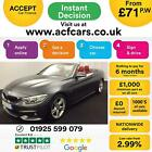 2015 GREY BMW 420i CONVERTIBLE 20 T M SPORT PETROL AUTO CAR FINANCE FR 71 PW