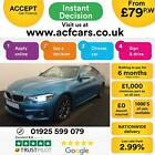 2017 BLUE BMW 420D 20 190 M SPORT DIESEL AUTO 2DR COUPE CAR FINANCE FR 79 PW