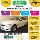 2016 WHITE BMW 430D GRAN COUPE 30 XDRIVE M SPORT DIESEL CAR FINANCE FR 79 PW