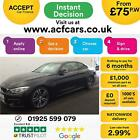 2016 BLACK BMW 430i 20 T M SPORT PETROL AUTO 2DR COUPE CAR FINANCE FR 75 PW