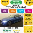2015 BLUE BMW 435D 30 XDRIVE M SPORT DIESEL AUTO COUPE CAR FINANCE FR 75 PW