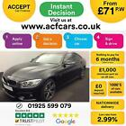 2015 BLACK BMW 435D GRAN COUPE 30 XDRIVE M SPORT DIESEL CAR FINANCE FR 71 PW
