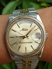 MIDO COMMANDER DAY & DATE PRESIDENT 8259 Gold Mens Automatic Swiss Watch