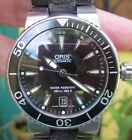 Oris Divers Date Black Dial moving bezel w/Custom Toad Band & Extra Rubber Band