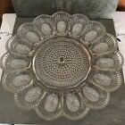 Indiana Glass Clear Hobnail Deviled Egg Plate Dish Platter 11