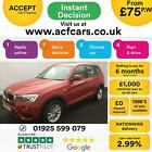 2017 RED BMW X3 20 XDRIVE20D SE DIESEL MANUAL ESTATE CAR FINANCE FR 75 PW