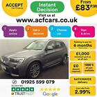 2016 GREY BMW X3 30 XDRIVE30D M SPORT DIESEL AUTO ESTATE CAR FINANCE FR 83 PW