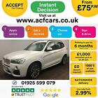 2015 WHITE BMW X3 30 XDRIVE30D M SPORT DIESEL AUTO ESTATE CAR FINANCE FR 75 PW