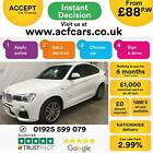 2016 WHITE BMW X4 20 XDRIVE20D M SPORT DIESEL AUTO COUPE CAR FINANCE FR 88 PW