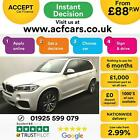 2014 WHITE BMW X5 20 XDRIVE25D M SPORT 7 SEAT DIESEL 4X4 CAR FINANCE FR 88 PW