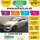 2017 SILVER MERCEDES CLA220D 21 AMG LINE DIESEL AUTO COUPE CAR FINANCE FR 75PW