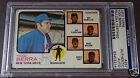 YOGI BERRA Signed 1973 Topps #257 New York Mets Auto PSA DNA Slabbed Autograph