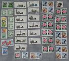 Lot of Stamps 19 22 23 25 D Trains Birds Roses Deer