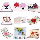 3D Pop Up Flower Series Greeting Card Handmade Lover Valentines Day Gift Health