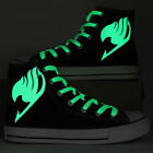 Anime Fairy Tail Luminous Sneakers Unisex High Top Canvas Shoes Men Casual Shoes