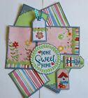 HOME SWEET HOME Family Premade Scrapbook Page Mat Set SEWN