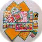 ITS A SPRING THING Premade Scrapbook Page Mat Set sewn SALE