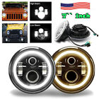 7Inch LED Headlights 75W Projector with Turn Signal DRL for Jeep Wrangler JK TJ