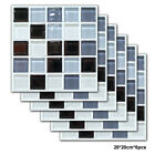 6Pcs Square Mosaic Decals Wall Sticker Panel Vinyl Home Room Decor 7.87 inch