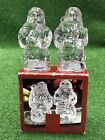 Gorham Holiday Traditions Crystal Santa Salt  Pepper Shakers Mint in Box