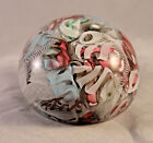 Multicolor Millefiori Ribbon Filled Glass Paper Weight