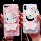 3D Cute Hello Kitty Mirror Bling Shell Gel Case Cover for Samsung Note 9 S8+ S9+