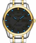 PASOY Mens Luminous Tritium Automatic Mechanical Watch Blue Light Stainless Stee