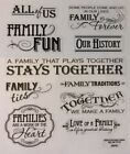 Words Phrases Family People Scrapbook Stickers