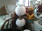 VTG Fenton White Poppy Milk Glass Gone With The Wind Parlor Lamp Farmhouse decor