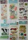 Scrapbooking Stickers Jolees Boutique Lot FARM Cow Pigs Tractor Petting Zoo