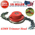 1 2Pcs 65Mn Trimmer Head Coil Chain Brush Cutter Trimmer Grass For Lawn Mower US