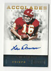 Len Dawson 2012 Panini Playbook Accolades Signatures Auto Card Chiefs HOF 26