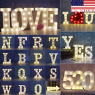 US Alphabet LED Letter Lights LED Light White Plastic Letters Standing Hanging