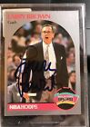 Larry Brown NBA Hoops Signed Autograph Card #328 Spurs Hall Of Famer