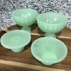 Hearth  Hand Magnolia Set 4 Dessert Bowls Cupcake Stands Gaines Green Jadeite