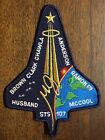 STS 107 COLUMBIA CREW MISSION PATCH 55 X 75 SIZE DARK BLUE BACKGROUND