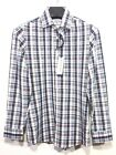 MIZZEN + MAIN Mens Green Blue Plaid Check Button Long Sleeve Shirt MSRP 125