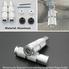 1Pair CNC Aluminum Footrests Footpegs Foot Pegs Pedals Kit For Motorcycle Engine