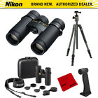 Nikon Monarch HG 8x30 Water Fog Proof Binoculars + Aluminum Travel Tripod Bundle