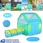 Portable Kid Baby Play House Toy Tent Playhouse 3 in 1 Ball Pit w Floor Mat
