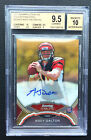 # 25 Andy Dalton BGS 9.5 GEM 2011 Bowman Sterling Gold Refractor Auto RC