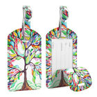 2 Pack Luggage Tags Name Card Holder Travel Bag Suitcase Backpack Labels