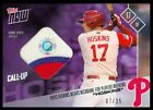 2017 TOPPS NOW PLAYERS WEEKEND RHYS HOSKINS ROOKIE JERSEY RELIC MLB AUTH 7 25