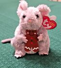 Stirring TY Beanie Baby Mouse With Gingerbread Man Cookie Tag Errors Rare